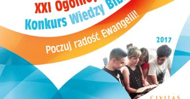 Dziś (25.04) etapy diecezjalne XXI Ogólnopolskiego Konkursu Wiedzy Biblijnej