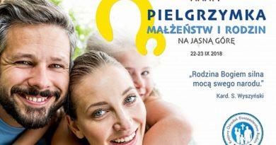 XXXIV Ogólnopolska Pielgrzymka Małżeństw i Rodzin na Jasną Górę