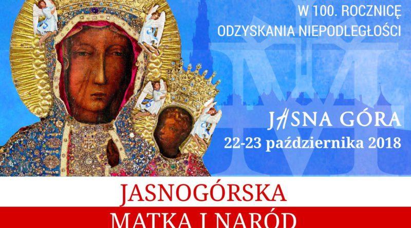 """Jasna Góra: Konferencja w 100. rocznicę odzyskania niepodległości pt. """"Jasnogórska Matka i Naród"""""""