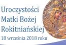 XIII Rocznica Koronacji Cudownego Obrazu Matki Bożej Wspomożycielki Prymasów w Rokitnie