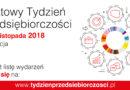 Tydzień Przedsięboroczości: 12-18 listopada 2018