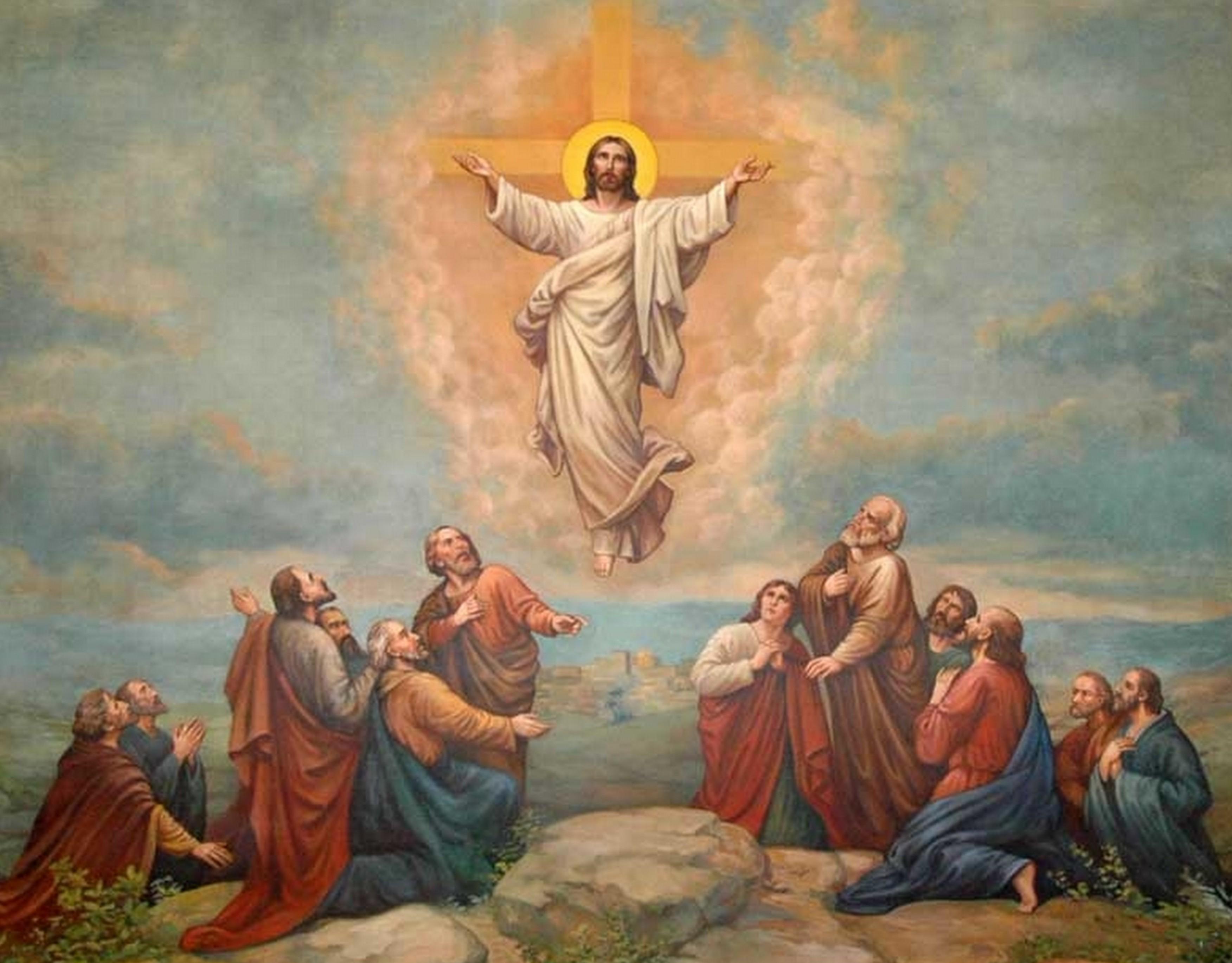 Znalezione obrazy dla zapytania Wniebowstąpienie pana Jezusa